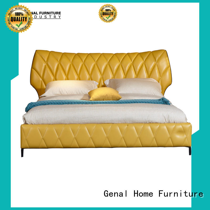 Genal leather double bed Suppliers