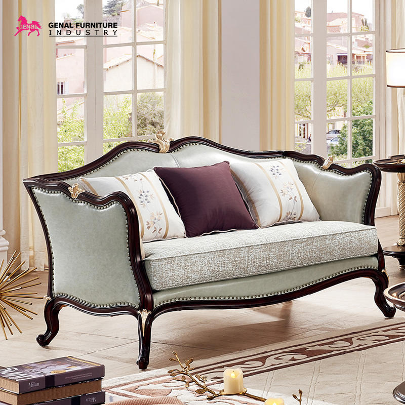 Carelli Brand Furniture Classic Elegance 3-seater Tufted Fabric Sofa Set With Wood Frame