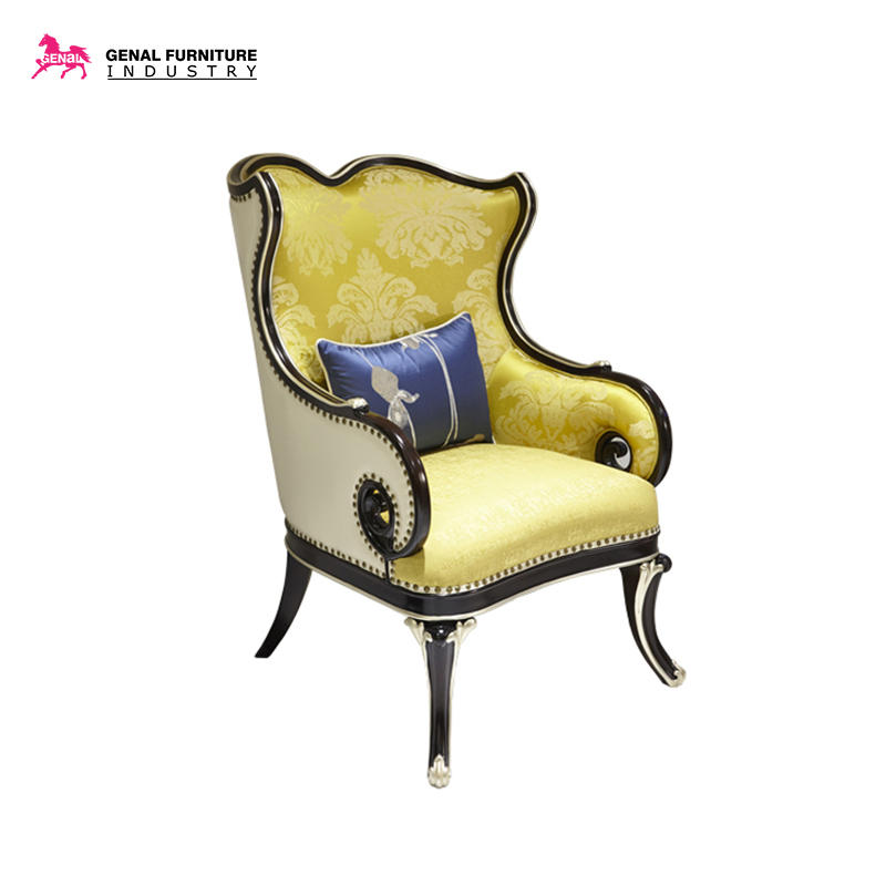 Carelli Brand Furniture Imperial Palace Upholstered Wood Frame Arm Chair