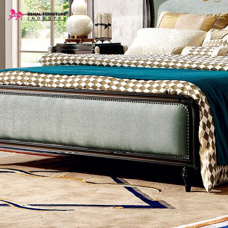 Restlay Bedroom Furniture Classic King Size High Headboard Fabric Bed Frame