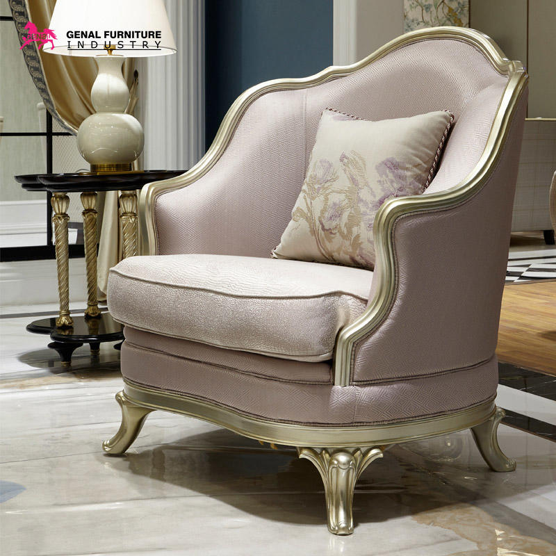 Carelli Brand Furniture Luxury 2-piece Sofa And Love Seat With Pink Jacquard Fabric/Gold Wood Frame