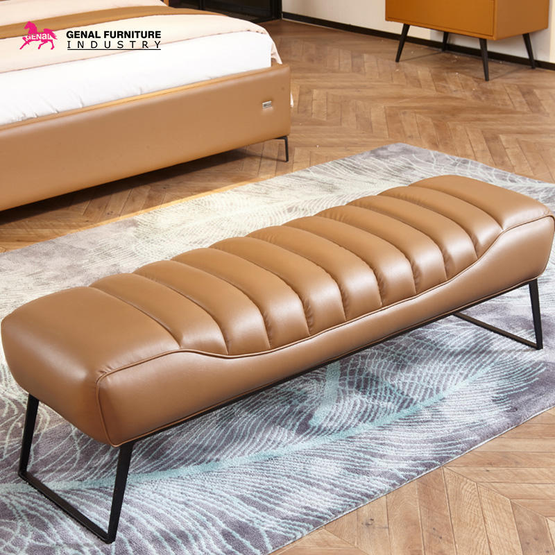Restlay Modern Design Upholstered Faux Leather King/Queen Size Bed Frame