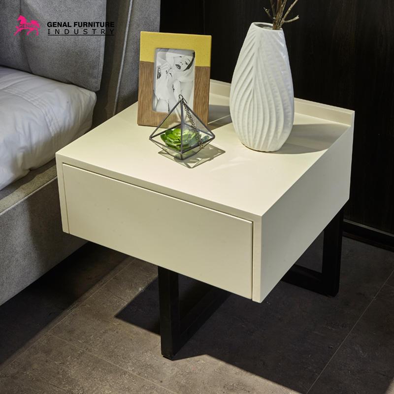 Restlay Bedroom Furniture Modern Cloth Light Grey Linen Upholstered Platform Bed With Slat