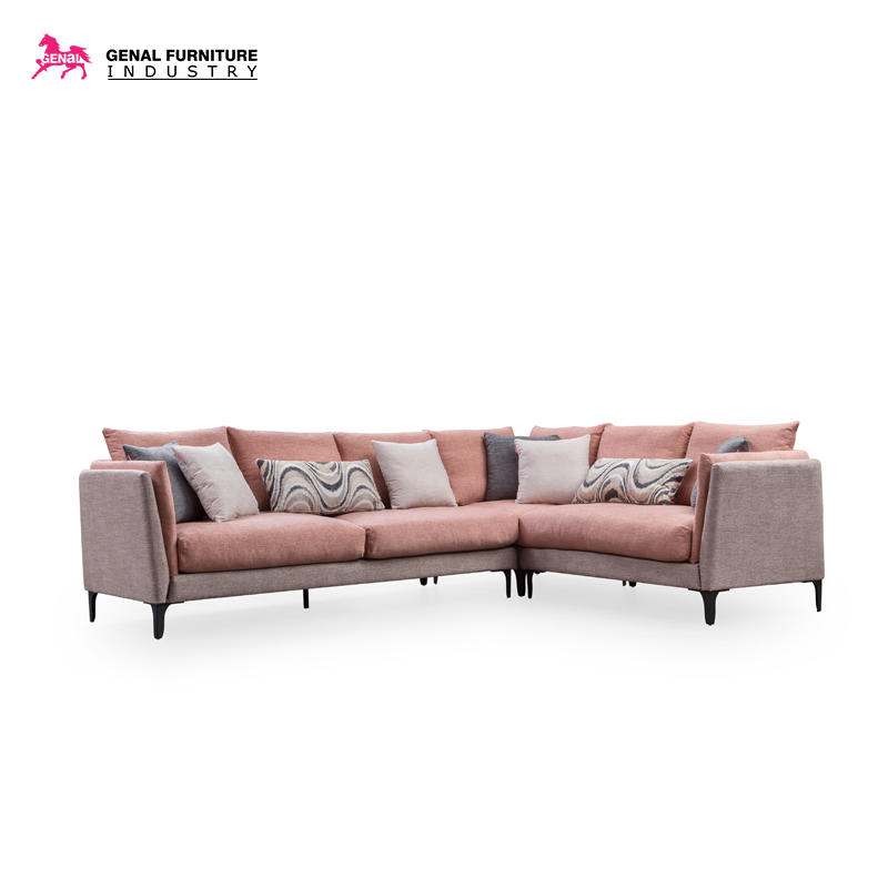Carelli 5-seater L - shape Tufted Sectional Sofa With Thin Armrest