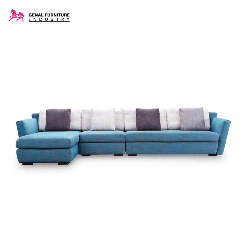 Carelli Classic Tufted Fabric Sofa Set, L - shape Comfortable Sectional Sofa Set