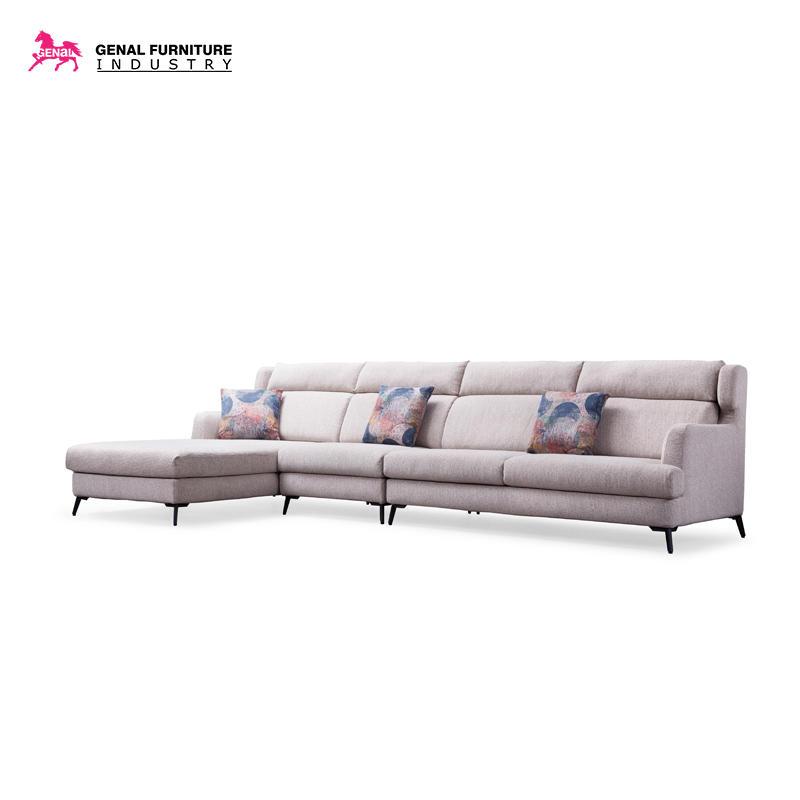 Carelli Modern Tufted Large Space Fabric Sectional Sofa Set, L shape Living sofa set(beige)