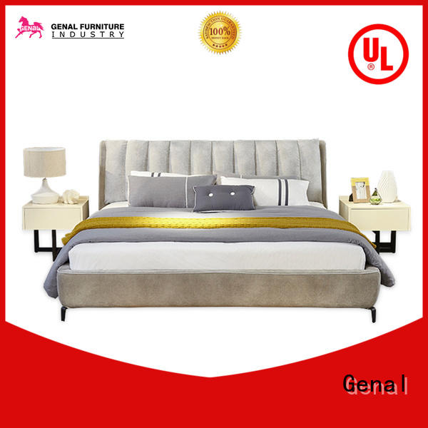 Genal New leather king size bed factory