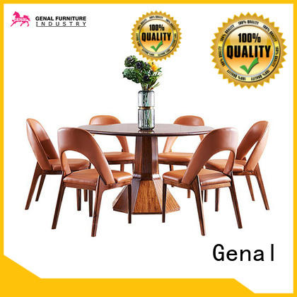 Latest round dining table and chairs for business