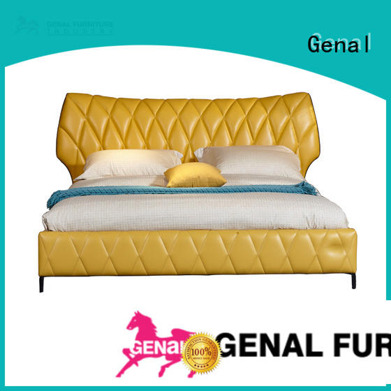 Genal Wholesale leather double bed for business