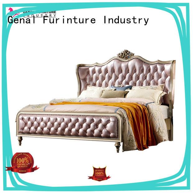 Genal leather platform bed company