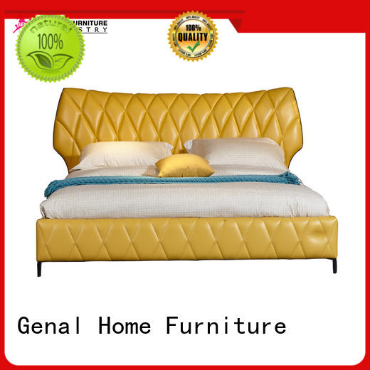 Genal High-quality leather bed Suppliers