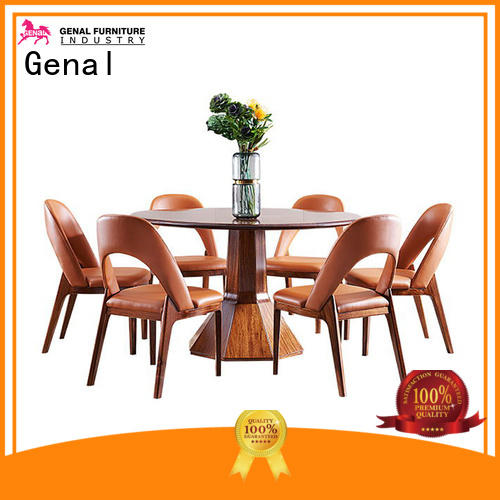 Genal dining table and 6 chairs company