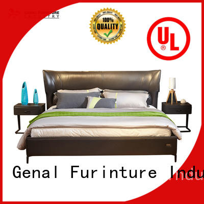 High-quality leather double bed Suppliers