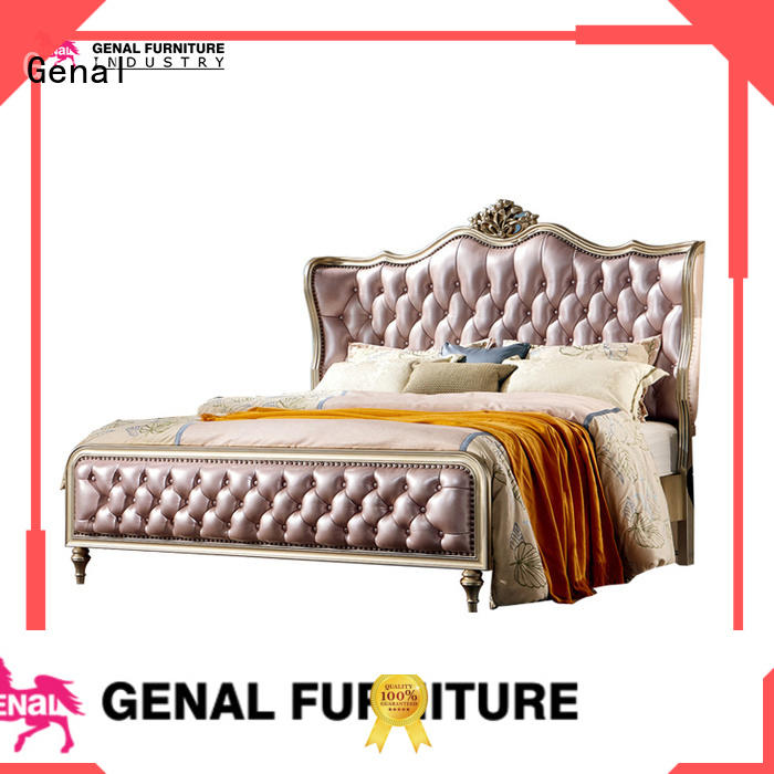 Genal New leather bed factory