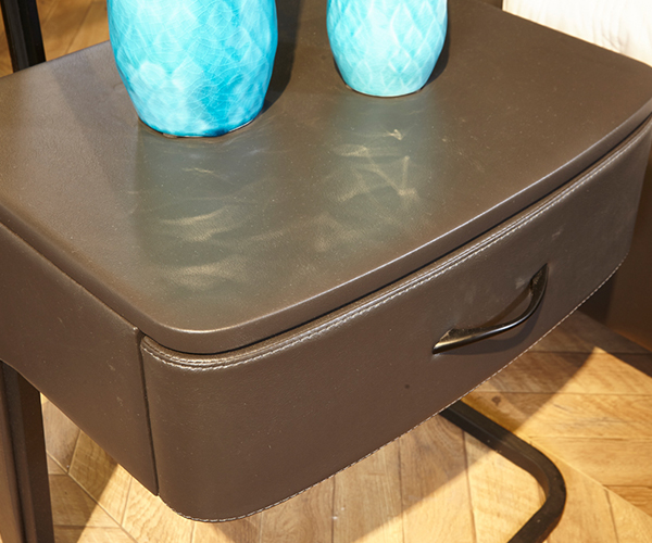 Genal one drawer modern nightstands leather cover-7