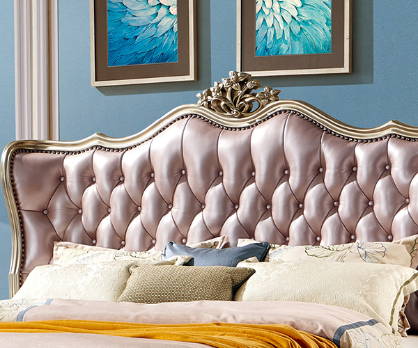 Genal New leather bed factory-5
