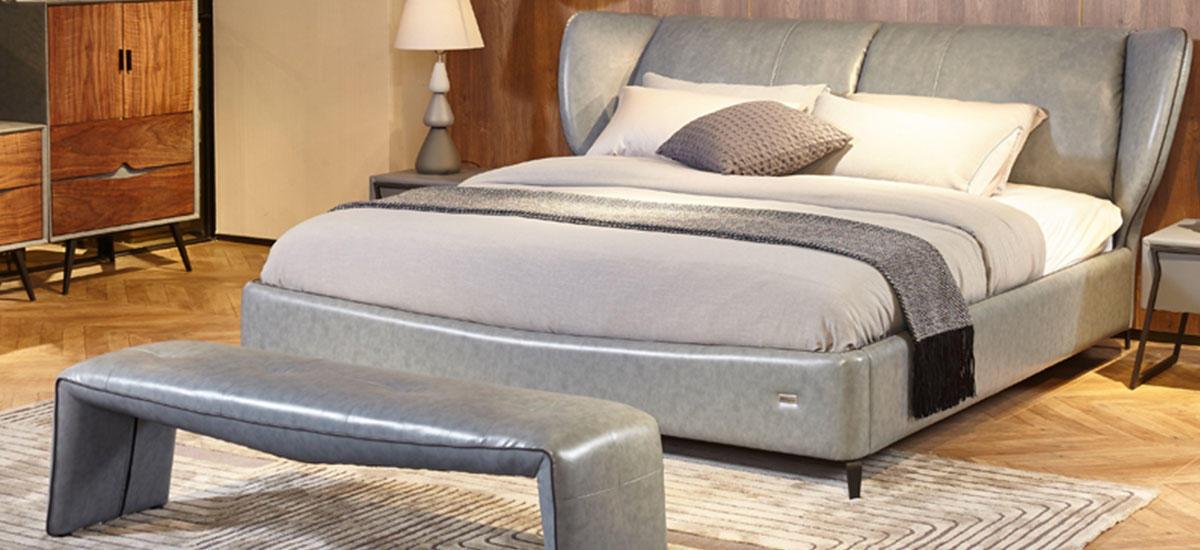 Genal Best leather double bed Suppliers-1