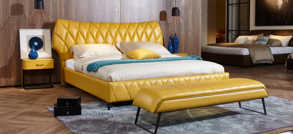 Genal Wholesale leather double bed for business-1