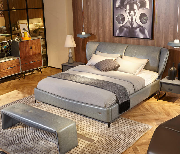 Genal Best leather double bed Suppliers-2