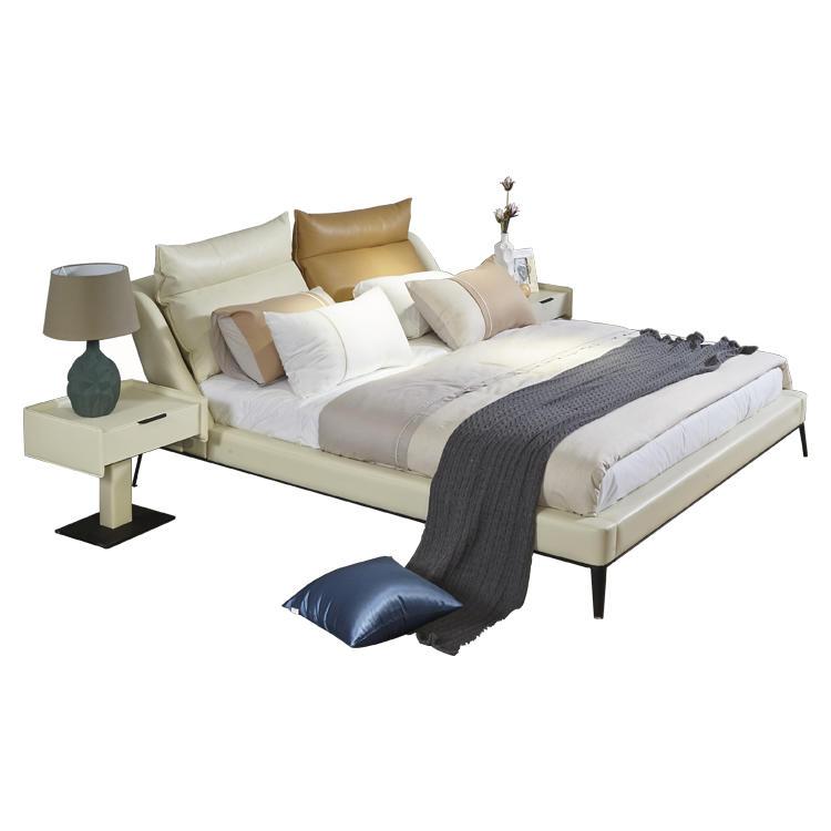 Restlay Comfortable Modern Faux Leather King Size Upholstered Platform Bed