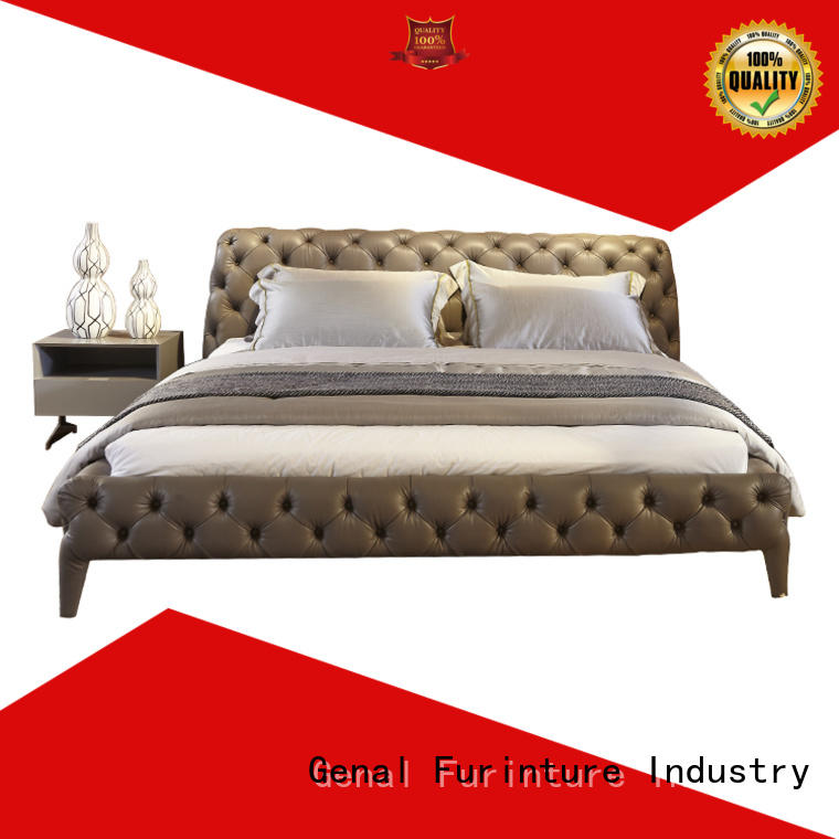 Genal Custom leather bed factory